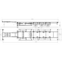 Универсальный полуприцеп-контейнеровоз 40ft GutTrailer модель CS-453